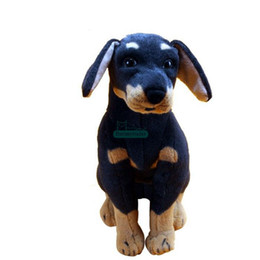 China Dorimytrader Quality Pop 73cm Giant Simulated Animal Rottweiler Plush Toy 29inches Stuffed Soft Black Dog Doll Kids Present DY61583 supplier dog christmas presents suppliers