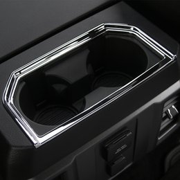 $enCountryForm.capitalKeyWord NZ - Armrest Box Cup Holder Decoration Ring New Arrival Car Accessories Fit For Ford F150 Mustang 2016-2017