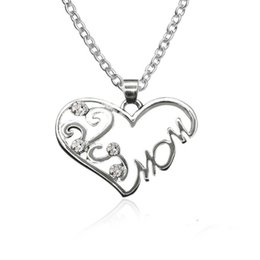 $enCountryForm.capitalKeyWord UK - Chain Necklace Wholesale Mother's Day Gift Heart Pendant Necklace Mom Word Necklace Romantic Birthday Cheap Women Jewelry Pendants Necklaces