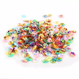 Flowers For Clothes Decoration Canada - New Coming 600-3800pcs 4 6 8 10mm White and Mix Color 3D Sequin Flower For Clothing Accssory DIY Art Decoration Jewelry Making