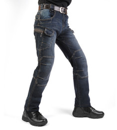 China Hot! New IX7 SWAT Military Style Cargo Jeans Men Casual Motorcycle Denim Biker Jeans Elastic Tactical Clothing Outdoors Army Jeans free ship suppliers