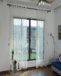 Elegant Yellow White Window Sheer Curtains Voile For Living Room Bedroom  Dust Proof Embroidered 1pcs Fabric Wholesale Price Free Ship Part 88
