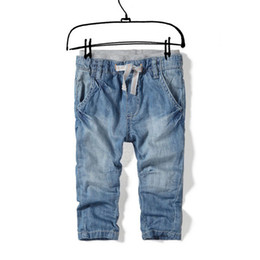 Denim Kids Pant Canada - (2-9Y) kids boys pants, vetement garcon, za kids jeans with stretch waist za denim pants brand cotton trousers pantalones nino free shipping