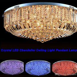 Flush lighting online shopping - High Quality New Modern K9 Crystal LED Chandelier Ceiling Light Pendant Lamp Lighting cm cm cm