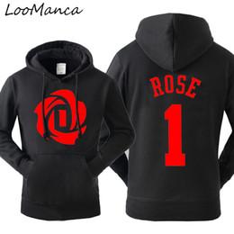 Rose pRinted sweatshiRt online shopping - Autumn Winter hoodies For Derrick Rose hoodies sweatshirts Hat Fleece casual men plus size long sleeve sweatshirt