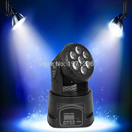 wash effect Australia - 4pieces lot LED moving head mini wash 7x12w rgbw quad with advanced 14 channels DJ Disco Party Stage Effect Lighting