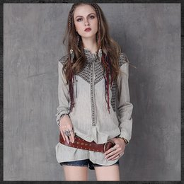 239ec39422424 Discount shirt cardigan Autumn cotton and linen asymmetrical cardigan  vintage embroidered drawstring temperament blouses hot sale