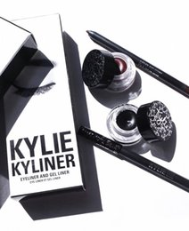 Pièce De Mascara Pas Cher-Kyliner Eyeliner Set Eyeliner Crayon Eye Shadow Brush Ensemble de trois pièces Kylie Cosmetics Kit VS Kylie Mascara Kylie lèvres En stock