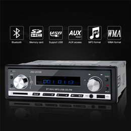 Car Radio Built Speaker Canada - Wholesale- 12V Stereo Bluetooth Car Audio MP3 Player USB FM Radio Tuner SD AUX Media Player Hand-free With Microphone Mobile Phone Charging