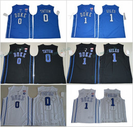 615ed0e46 2017 Duke Blue Devils College Basketball Jerseys 0 Jayson Tatum 1 Harry  Giles New Black Blue Stitched University Basketball Jersey S-XXXL ...