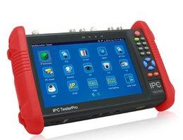 Опт Новый 7-дюймовый сенсорный экран CCTV тестер монитор IP аналоговые камеры тестирование 4MP WIFI Onvif PTZ управления POE 12 В выход