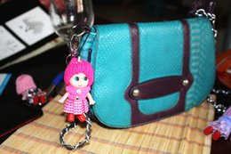 $enCountryForm.capitalKeyWord Australia - 120pcs lot Cute Kids Toys Soft Interactive Baby Dolls Toy Key Chain, Mini Doll Keychain For Girls Key Ring Key Holder Mobile Phone Straps