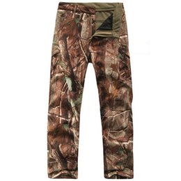 Pantalons Hommes Camouflage Militaire Pas Cher-Tactical Military Camouflage Pants Hommes Shark Skin Soft Shell Imperméable Warm Pants Mens Camo Paintball Pantalon en molleton d'armée