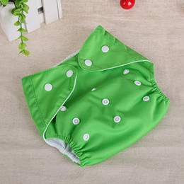 thin diaper Australia - 10 pcs Baby Cotton water proof Soft Diaper Nappies Cover Reusable Washable Adjustable Size Four seasons buttons Diapers YTNK001