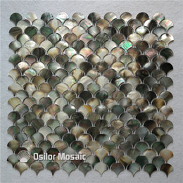 black pearl tiles Australia - Natural black color 100% blacklip sea shell mother of pearl mosaic tile for home decoration wall tile bathroom and kitchen wall tile