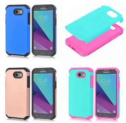 Discount galaxy cell - Hybrid Armor Soft Hard Plastic PC Case For Samsung Galaxy J3 2017 Emerge J7 Prime LG LV3 5.0'' MS210 Dual Laye