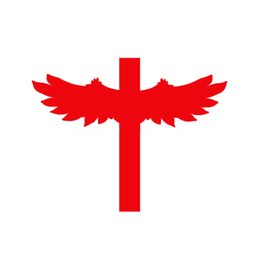 $enCountryForm.capitalKeyWord Canada - Jdm Religious Decal Cross with Wings Vinyl Decal Car Stickers For Car Window Die Cut Bumper Auto Parts Scratches Motorcycles Wall