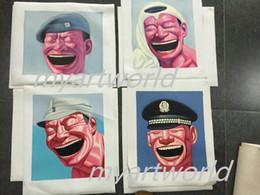 $enCountryForm.capitalKeyWord Australia - 4pcs portrait Smiling Faces,Pure Hand Painted Modern Wall Decor Portrait Art Oil Painting On High Quality Canvas.Multi customized size 009#