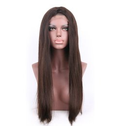 "Virgin Brazilian Human Hair Wigs Canada - Human hair wigs Brazilian Straight Lace front wigs #1 #1B #2 #4 130% swiss lace front wigs hair for women 10""-30"""