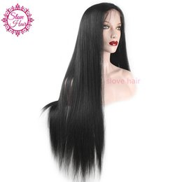 8a Hair Lace Wig Australia - 8A Full Lace Human Hair Wigs for Black Women Glueless Full Lace Wigs Brazilian Virgin Hair Straight Lace Front SLOVE Human Hair