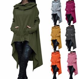 Нерегулярные толстовки с длинным рукавом куртки женская мода твердые свободного покроя пальто осенние блузки кофты пуловеры и пиджаки джемпер женская одежда CL049 на Распродаже