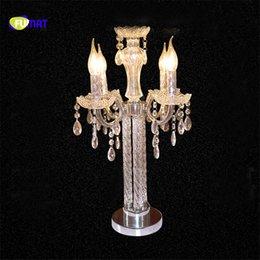 $enCountryForm.capitalKeyWord Australia - Candle Table Light Bulb K9 Crystal Table Lamp Modern Art Deco Bedroom Bedside Desk Lamps Romantic Wedding Lighting Hotel