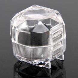 Wedding Display Cases Canada - Acrylic Elegant Useful Acrylic New Transparent Crystal Rings Ring Earring Ear Earrings Display Box Organizer Wedding Lady Case