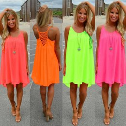 8cf82ed9ad71 Summer dresses for women clothes sexy plus size 5XL loose dress spaghetti  strap back Hollow Out candy color