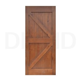 diyhd 38in84in aging brown pine knotty sliding barn wood door slab twoside arrow style barn door panel with hardware