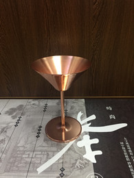 $enCountryForm.capitalKeyWord NZ - Brilliant Rose Gold Stainless Steel Martini Glasses Cocktail Goblets drinking wine glasses wedding party bar supplies