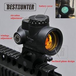 Wholesale Trijicon MRO Style Holográfico Red Dot Sight Optic Scope Tactical Gear Airsoft Con 20mm Scope Mount Para Caza Rifle