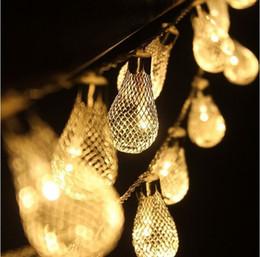 Holiday bulbs online shopping - wedding dresses lights Led Metal Bulbs String Light W With US EU Plug Led Strings Christmas Wedding Party Lights Set