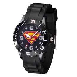 $enCountryForm.capitalKeyWord Canada - Cartoon Boy girl children students Superman style Black Silicone strap quartz wrist watch 08