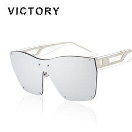 3ac65072d Wholesale- Oversized Hip Hop Rimless Men Women Brand Designer Large Frame  Mirror Sunglasses Male Shades UV400 Mirror Sun Glasses Female Hot