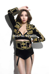 1f552b21d529 New fashion Women sexy party one-piece bodysuit bat jacket clothing set  female singer DJ DS dance stage costume outfit show dancer dress