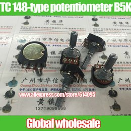 Discount potentiometer joint Wholesale- 4pcs TC 148-type inside curved legs single joint potentiometer B5K   handle length 25MM with flowers stepping