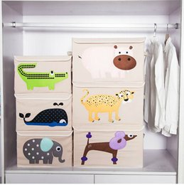 $enCountryForm.capitalKeyWord Canada - Clothes Storage Box Belt Cover Cartoon Fabric Multi Function Toys Fold Case Family Necessity Cute Boxes Hot Sell 18pj I1 R