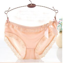 $enCountryForm.capitalKeyWord Canada - Brand Hot Sexy Lady Bowknot Hollow Out Lacework Underwear Cotton Panties Breathable Female Boxer Shorts Women Triangle Pants Party