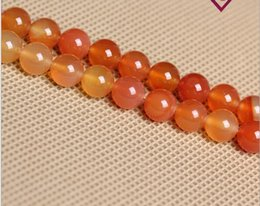 red carnelian jewelry 2021 - Red Agate Carnelian 8mm Round natural stone Carnelian Agate Beads For Bracelet Jewelry Making more colors for choice