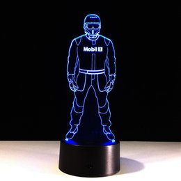 China 3D Police Optical Illusion Lamp Night Light DC 5V USB Powered 5th Battery Wholesale Dropshipping Free Shipping cheap police battery suppliers