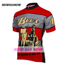 hot 2017 cycling jersey men beer red clothing bike wear nowgonow Retro  Jersey summer pro racing ropa ciclismo mtb road bicicleta cool funny 7619365ce