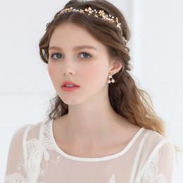 611666fd5649b Fashion Bead Diamonds Wedding Hair Accessories Bridal Hats Cute Flowers  Bride Accessories Branches Golden Flower Hair Band Bridal Headpieces