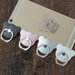 China 100pcs per lot cell phone mout mobile phone holder 360 Degree finger ring Mickey style Smartphone Stand opp bag packing suppliers