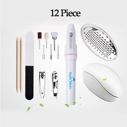 Barato Arquivo Do Pé Da Máquina-New Nail Art Equipment Máquina de lixar elétrica Fileira de cutícula Pusher Foot Dead Skin Remover Nail Trimmers Cutter Manicure 2017