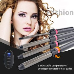 Ckeyin 9/22/25 / 32mm Bigoudi Cheveux Curler Fer Baguette Pince Digital Wave 360 Rotatif Chauffage Rapide Chauffage Styling Outil Styler Clip 50