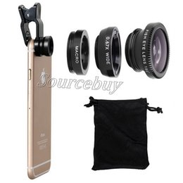 mobile phone microscope lens NZ - 3 in 1 Wide Angle Macro Fisheye Lens Microscope Mobile Phones lenses for iPhone 6 7 Plus Galaxy S8 Camera Glass Universal Clip