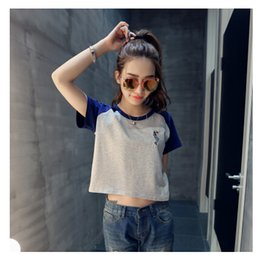 T-shirt De Dauphin Pas Cher-Wholesale-Shirts Mujer 2016 Summer Style T Shirt Femmes O-Neck Harajuku Dolphin brodé manches courtes T-shirt Casual Loose Tops Tees