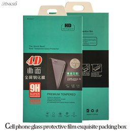 Wholesale Boxes Packaging Canada - Empty Paper Retail Boxes Package Packing Packaging For 9H 3D 4D Premium Tempered Glass Screen Protector Film i6 i7 PLUS Box Free Delivery