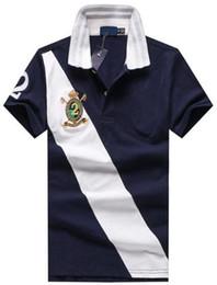 Polo Casual Hombre Canada - Trade Fashion American polo shirt Big Horse Print men polos hombre cotton comfortable casual & business Club polo shirts M-XXL