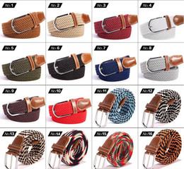 Webbing belts online shopping - Big children Mens Womens Canvas Plain Webbing Metal Buckle Woven Stretch Waist Belt canvas Braided Belts good qulity YYA532